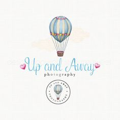 Hot Air Balloon Logo Photography Logo Bespoke Logo Watercolor Boutique Logo Logo Stamp Watercolour Logo Photographers Logo Graphic Design by stylemesweetdesign on Etsy https://www.etsy.com/listing/241043142/hot-air-balloon-logo-photography-logo