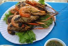 Goong Pao (Grilled Shrimp) กุ้งเผา