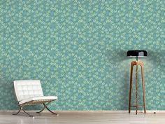 Design #Tapete Mondschein Blümchen Flora, Delicate, Design, Home Decor, Self Adhesive Wallpaper, Moonlight, Paint, Wall Papers, House