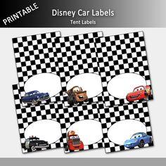 Disney Cars Food Labels Printable