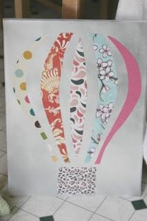 Hot Air Balloon DIY art - using extra scrapbook paper!