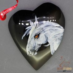 Unique Hand Painted horse Pendant Natural Gemstone With Silver Bail  ZL807020 #ZL #Pendant