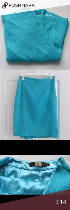 Blue Skirt Amazing condition. Slit in back and build in slip.  Size: 4 Color: Blue Brand: Eva Franco  Ask if available before buying. Eva Franco Skirts