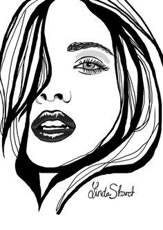 Fashion Illustration Ideas Fashion illustration by Linda Skaret, via Behance - Fashion Illustration Face, Illustration Art, Illustrations, Pencil Art Drawings, Art Sketches, Gravure Laser, Desenho Tattoo, Character Drawing, Art Sketchbook