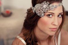 Bridal Crystal Rhinestone Halo Headband  As by shopelizabethperry, $228.00