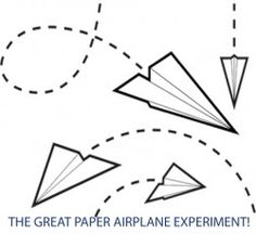 Paper airplane science fair research