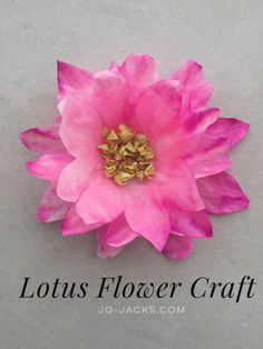 Easy Lotus Flower Craft for kids