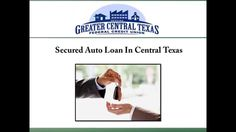 Greater Central Texas Federal Credit Union offers low interest secured auto loans to its members. The staff at the credit union provides guidance throughout the loan application process. For more information about the secured auto loans provided by the credit union in Central Texas, visit : http://www.gctfcu.net