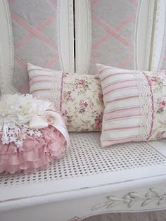shabby pillows