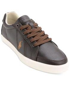Polo Ralph Lauren Men's Hugh Lace-Up Sneakers - Brown 7.5