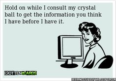If only I had a crystal ball.....