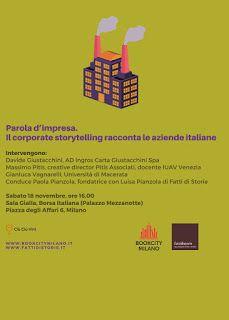 EVENTO. Parola dimpresa. Il corporate storytelling racconta le aziende italiane www. Milano Design Week .org