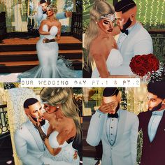 Our Wedding Day Pt. 1 & day poses Our Wedding Day Pt. Wedding Family Poses, Wedding Poses, Sims 4 Teen, Sims 4 Toddler, Sims Cc, Sims 4 Mods Clothes, Sims 4 Clothing, Sims Mods, Die Sims 4 Packs