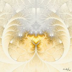 by Solankii on DeviantArt Fantasy Images, Cream And Gold, Fractal Art, Amazing Art, Snowflakes, Design Art, Objects, Colour, Yellow
