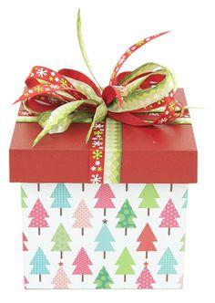 Caja de madera / regalo navideño / Navidad 2014 / Adorno / Decoración
