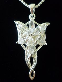 Did anyone else feel so inadequate in their lives because they grew up reading stories about elves, and elves were always awesome, gorgeous, immortal, and good at everything? And we were simple humans in a world without magic...sadface.  Evenstar Arwen Pendant LOTR Lord of the Ring Hobbits by BaneTDKR, $16.90