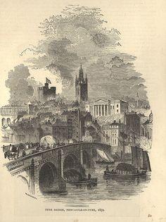Tyne Bridge Newcastle upon Tyne 1859