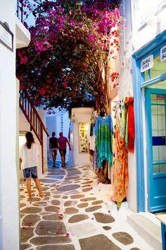 Shopping in Mykonos, Greece Mykonos, Santorini, Luxury Cruise Lines, Forest Trail, Greek Isles, Ephesus, Shore Excursions, Cruise Travel, Medieval Castle