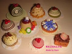 Paper cakes - quilling - Made by Kaon