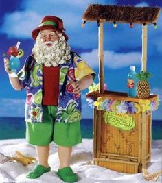 2010 Fabriche Cocktail Santa on The Beach w Drink | eBay