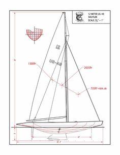 USA-49 12-metre sail plan