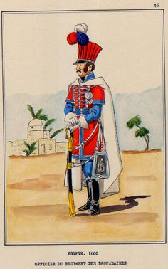 French; Dromedary Regiment, Officer, Egypt, 1800