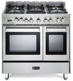 """36"""" Dual Fuel Freestanding Range with 5 Burners, Sealed Burner Cooktop, Storage Drawer, 2.4 cu. ft. Primary Oven Capacity, 12000 BTU BTUs, Electronic Ignition, European Convection in Stainless Steel T"""