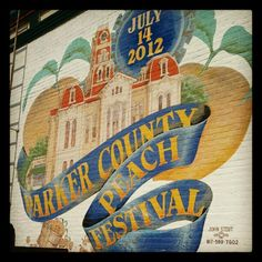 2013 Parker County Peach Festival Poster & Website | Staycation ...