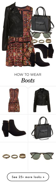 """""""Style #9311"""" by vany-alvarado on Polyvore featuring Topshop, Rebecca Minkoff, Ray-Ban and Forever 21"""