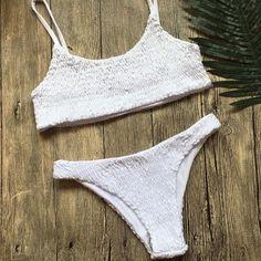 31d04760124ff Bikini 2018 Bandeau Swimwear Women Swimsuit Push Up Bandage Swimming  Bathing Suit Brizilian Bikini Set Maillot De Bain Femme