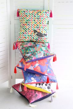 Cushions by Cloud Nine Creative Original fabrics, hand sewn in NZ  www.cloudninecreative.co.nz