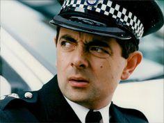 Rowan Atkinson as Inspector Raymond Fowler, in The Thin Blue Line Rowan, Mr Bean Photoshop, Vintage Photographs, Vintage Photos, British Comedy, British Actors, Mr Ben, Tommy Cooper, Actor