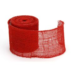 """4"""" Red Wired Burlap Ribbon 10 Yard Roll Burlap Ribbon, Special Events, Rolls, Wire, Buns, Bread Rolls, Cable"""