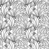 Patrones florales monocromo abstracto sin fisuras — Vector de stock #74883759
