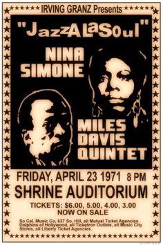 Nina Simone and Miles Davis Quintet_Shrine Auditorium , Friday 23 April 1971