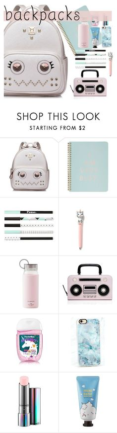 """What´s in my backpack"" by karla786 ❤ liked on Polyvore featuring interior, interiors, interior design, home, home decor, interior decorating, WithChic, ban.do, Kate Spade and Casetify"