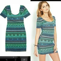 Forever 21 tribal ombre bodycon dress  My dream dress is now onhand but i'm still looking for another color yet same design