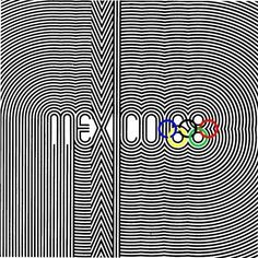 ' ' Some really fantastic design work from New York native and designer Lance Wyman for the 1968 Olympics. The Op-Art Kinetic Typogra. Mexico Olympics, 1968 Olympics, Summer Olympics, Illustrations, Graphic Illustration, History Of Olympics, Lance Wyman, Mexico 68, Minimalist Bullet Journal