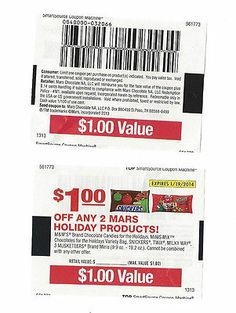 10 Coupons Save $1.00 OFF any TWO (2) MARS Holiday Products! 01/19/2014