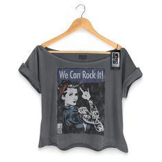 T-shirt Premium Feminina 89fm We Can Rock It! - R$ 79,90 no MercadoLivre