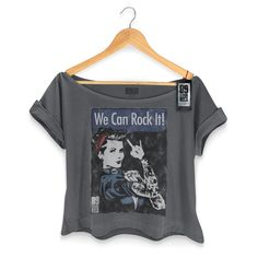 T-shirt Premium Feminina 89fm We Can Rock It! - R$ 79,90 no MercadoLivre