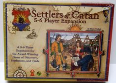 SOLD! SETTLERS OF CATAN 5-6 Player Expansion Set NEW SEALED 1999  #Mayfair