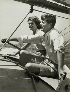 The Kennedys sailing President John F Kennedy and of course Jackie at his side