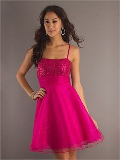 Spaghetti Strap A-line open back blue or purple or hot pink Mini with Sequins Prom Dress PD0266  http://www.simpledresses.co.uk