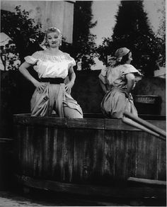 """I Love Lucy On The Move - I Love Lucy: An American Legend   Exhibitions - Library of Congress -- Photograph of Lucille Ball and Teresa Tirelli from Episode No. 150, """"Lucy's Italian Movie,"""" 1956. Facsimile."""