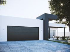 Single Family Homes project in MOOLOOLABA, AU designed by Anonymous - Modern Australian house facade Small Modern House Exterior, Modern Exterior Doors, Best Modern House Design, Modern House Facades, Contemporary House Plans, Dream House Exterior, Modern Architecture House, Flat Roof House Designs, House Front Design