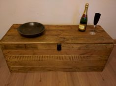 Rustic Storage Bench Seat Handcrafted from Reclaimed Wood with Hinged Lid by TimberWolfFurniture on Etsy