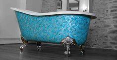 Beautiful mosaic tile clawfoot tub - The Elegance and Charm of the Clawfoot Bathtub