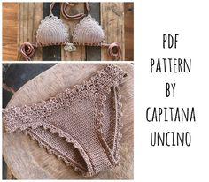 This listing is PDF CROCHET PATTERN for Lorelei Bikini top and Basic Bottom, Not finished items:) Skill level: INTERMEDIATE (easy) You should know the basic stiches: chain stitch, single crochet, slip stitch, double crochet. All the other stitches used in the pattern are explained. This pattern is written in standard American terms and includes lot of photos of the process and little piece of chart for the edging. Pattern includes instructions for the following sizes XS,S,M,L This pattern…