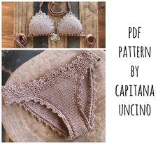 PDF Crochet PATTERN for Lorelei Crochet Bikini Top and Basic